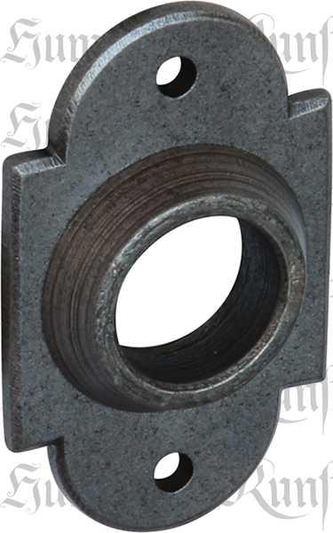 Drückerrosette für Rosettengarnitur antik, Eisen altgrau. Im Konfigurator auch in Eisen geschmiedet