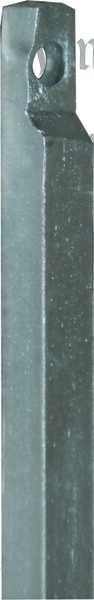 Stange zu Fenstereinlassgetriebe, in Eisen verzinkt, 1 Meter, 8x8mm, Einlassgetriebe