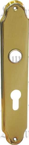 Türschild, Türbeschlag im Jugendstil, Messing gegossen, poliert lackiert, PZ72