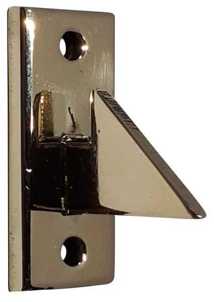 Schließhaken für WC-Verschluss aus Messing handgefertigt, poliert unlackiert, WC-Türbeschlag antik