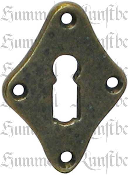Türbeschlag Jugendstil nostalgisch, BB Schlüsselrosette antik, Messing gegossen, historisch