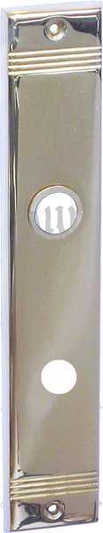 WC Türbeschlag antik, alt, Schild WC 78, Messing gegossen, glanzverchromt