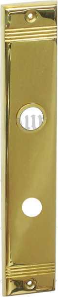 WC-Türbeschlag antik, Schild WC 78, aus Messing gegossen, poliert lackiert