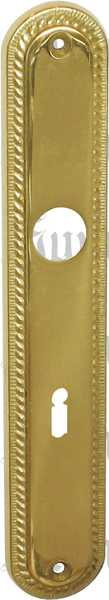 Türschild, Messing poliert gegossen, lackiert, BB72mm Jugendstil, Langschild