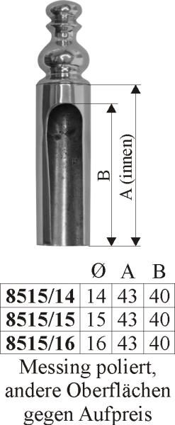 Aufsteckhülsen, Zierhülse für Einbohrband in Messing poliert nicht lackiert, Innen-Ø: 15mm Bild 3