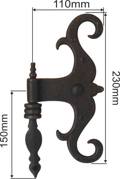 t rband antik alt f r alte und neue t ren t rb nder historisch zimmert rband mit kloben 8700er. Black Bedroom Furniture Sets. Home Design Ideas
