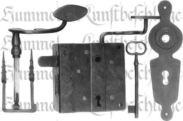 Kastenschloss rechts, hebende Falle für Haustür, Haustürschloss Garnituren, Profilzylinder vorgerichtet
