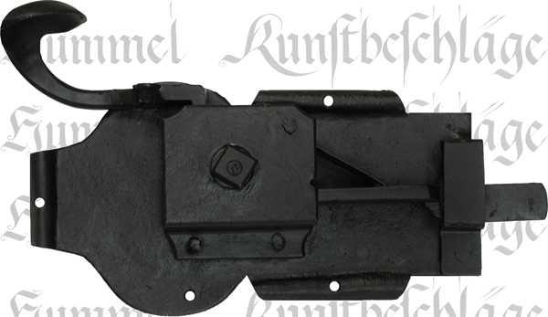 t rschloss rustikal antik zimmert rschlossgarnitur eisen schwarz din links dornma 80mm. Black Bedroom Furniture Sets. Home Design Ideas