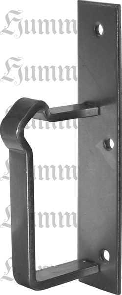 Kastenschloss antik, Mauskastenschloss mit Schlüssel und Schließkloben, Eisen blank, DIN links, einwärts, BB, Dornmaß: 60mm Bild 2