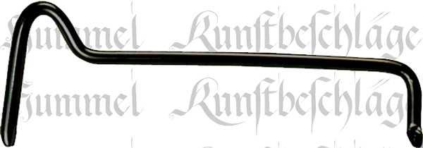 Streifdraht antik, Streichdraht Eisen schwarz verzinkt