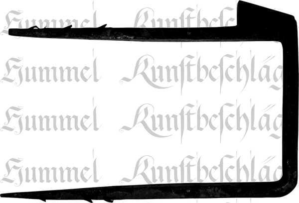 Schließkloben für Kastenschloss zum Einschlagen, Eisen matt schwarz lackiert