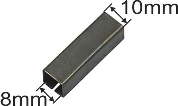 Reduzierhülse Eisen, 8x10mm, Aufsteckhülse Metall, für Vierkantstift Bild 3