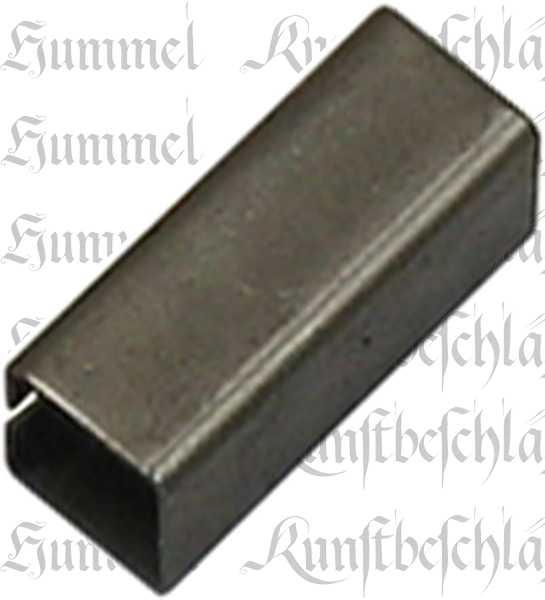 Reduzierhülse Eisen, 8x9mm, Aufsteckhülse Metall, für Drückervierkantstifte, Vierkantstifte