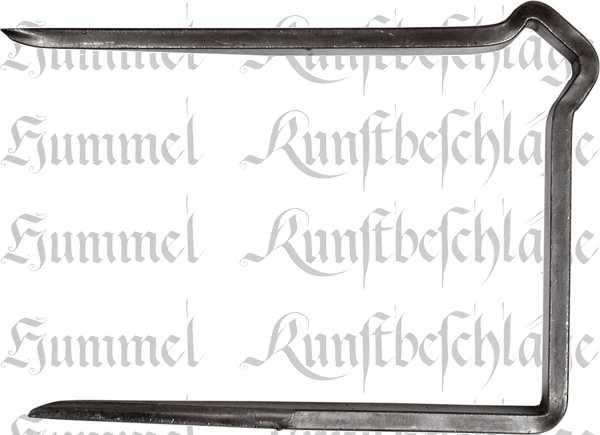 Zimmertürschlossgarnitur, Kastenschloss Buntbart, Mauskastenschloss, Eisen blank, DIN rechts, einwärts, Dornmaß: 60mm, hebende Falle, Nachtriegel