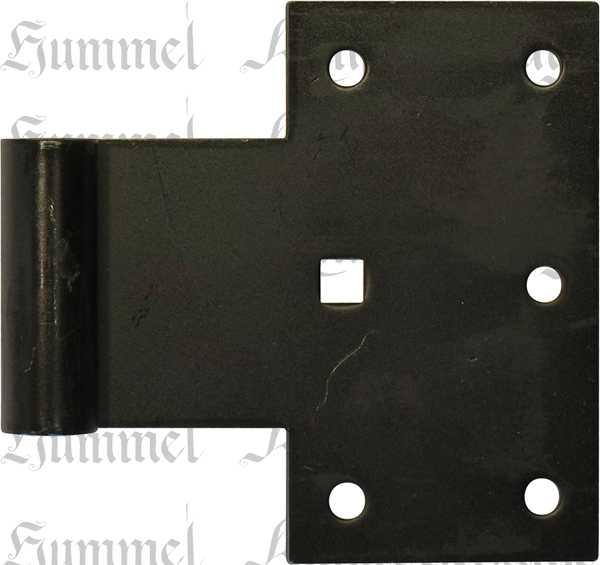Württembergisches Kreuzband, galvanisch verzinkt, schwarz, Fensterladenscharnier alt, Fensterladen Scharnier antik