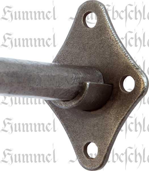Einlaufige Eisen Vorhangstange Gardinenstange Geschmiedet Altgrau