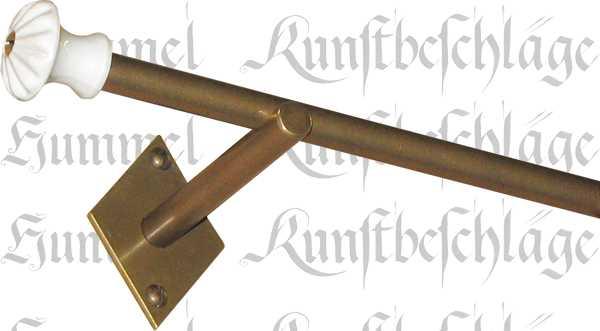 Einl ufige vorhangstange gardinenstange in messing patiniert f r normale wandmontage - Gardinenstange wandmontage ...