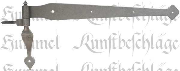 Antikes Türband, Nostalgie Türbänder, alte, antikes Langband mit Kloben aus Eisen