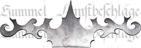 Zierblech, Eisen blank, handgefertigt aus Blech, antike schöne Form