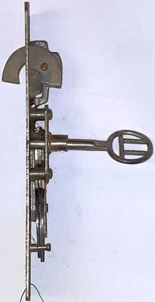 Hakenschloss Eisen angerostet, mit Schlüssel, original altes Schloß Bild 2