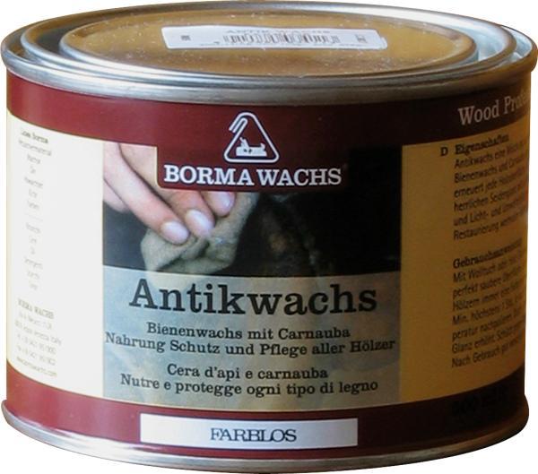 Antikwachs, Wachs antik Fichte braun, 500cc, Möbel-wachs antik, Borma