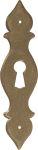 Bäuerliches altes Schlüsselschild antikes aus Messing und schön patiniert