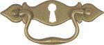 Möbelgriff antik, rustikal, Griffbeschlag mit Schlüsselloch, Messing patiniert