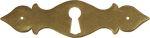 Schlüsselschild für alte Schubladen rustikal, Messing patiniert