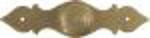 Möbelgriff antik, Knopf für altertümliche Küche Landhaus, Ø 30mm, mit Rosette, Messing patiniert