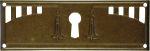 Schlüsselschild aus Messing antik patiniert, Beschläge historisch, Jugendstil