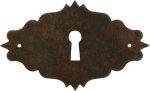 Schlüsselschild Eisen gerostet und gewachst, rustikales Schrankschild antik