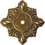 Rosette, Messing gestanzt, geprägt und schön antik patiniert
