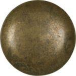 Möbelknopf klein, alter Knopf, Ø 17mm, Messing patiniert. Aus Messing gegossen.