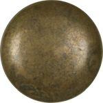 Möbelknopf antik, Knopf, Ø 34mm, massiv Messing und patiniert. Aus Messing gegossen.