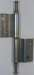 Gekröpftes Möbelband, links, Eisen blank, Kröpfung D