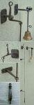 Klingelzug antik, Türglocke für Landhaus, Ziehglocke in Eisen geschmiedet
