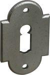 BB-Türrosette für Rosettengarnitur antik, Eisen altgrau. Im Konfigurator auch in schmiedeeisen, Eisen geschmiedet bestellbar.