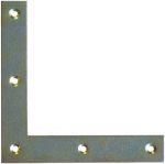 Einlaßecke, Fensterscheinwinkel, 15x120x120x1,8mm, Eisen gestanzt dann verzinkt