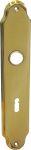 Türschild, Türbeschlag Jugendstil, Messing gegossen, poliert lackiert, BB72