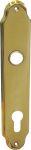 Türschild, Türbeschlag aus dem Jugendstil, Messing gegossen, poliert lackiert, PZ92