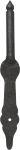 Kloben antik, Eisen handgearbeitet, schwarz, Bolzendurchmesser 10mm, Stützkloben antik für Türbänder., Türangel, Türangeln
