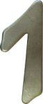 Hausnummer 1 Eisen grau verzinkt, Höhe: 120mm, mit Befestigungsmaterial