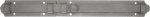 Türriegel antik alt, Eisen altgrau, matt klar lackiert, 400mm, Stangenriegel mit Feder für Tür