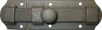 Türriegel historisch, antik alt, Eisen gerostet gewachst, 150mm, Historie