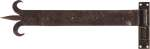 Langband historisch mit Plattenkloben, geschmiedetes Türband lang für Altbau gerostet, gewachst, 400mm lang