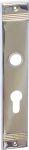 Schild Jugendstil, Langschild, PZ 72, Messing gegossen, glanzverchromt