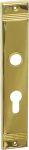 Schild PZ 72, aus Messing gegossen, poliert lackiert Jugendstil, Langschild