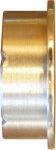 Schiebetürgriff antik Messing, Schiebetürmuschel rund, Messing poliert lackiert, Schiebetür Schild alt, Schiebetürbeschlag