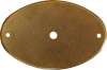 Rosette für Haustürmittelknopf, Messing patiniert, antik