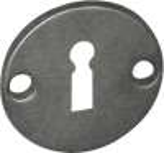 BB-Rosette, Eisen altgrau, für antike Rosettentürgarnituren